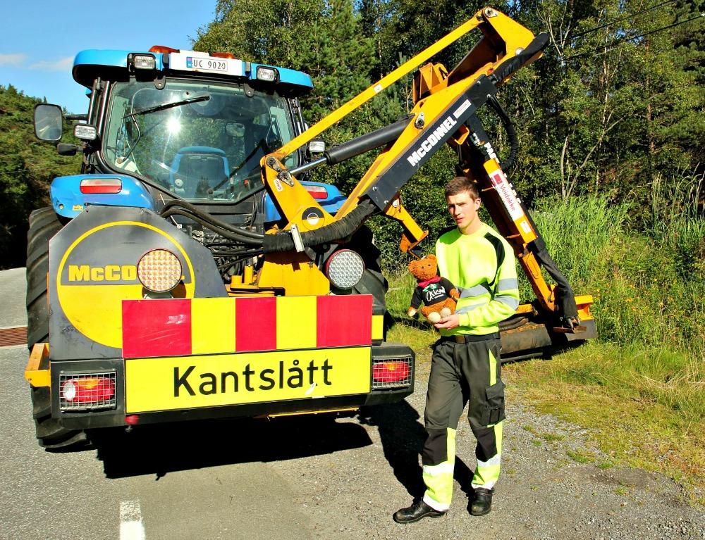 Kantslått traktor